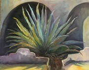 Sunlit Agave and Arches